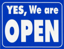 Geographics 13500 sign open/closed laminated card