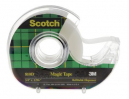 Scotch 810 magic tape in dispenser 12mm x 33m