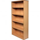 RAPID VIBE BOOKCASE 4 SHELF 900 X 315 X 1800MM BEECH