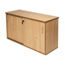 Rapid span sliding door credenza 1200 x 450 x 730mm beech