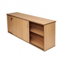 Rapid span sliding door credenza 1800 x 450 x 730mm beech