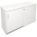 Rapid vibe sliding door credenza 1800 x 450 x 730mm white