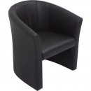 SPACE EXECUTIVE TUB CHAIR SINGLE SEATER PU BLACK