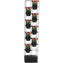 Rapidline rapid bloom vertical garden 1935 x 390 x 210mm black