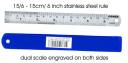 Ruler stainless 15 cm