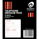 Telephone message pad pack 5