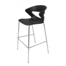 Taurus poly bar stool chrome base black