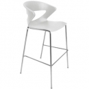 Taurus poly bar stool chrome base white