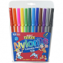 Texta nylorite colouring pens pack 12