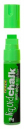 Texta jumbo liquid chalk markers wet wipe chisel 15mm green