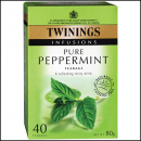 Twinings teabags herbal infusions pure peppermint pack 80