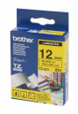 Brother tze-631 laminated labelling tape 12mm black on yellow