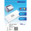 Unistat 38940 multipurpose label 1 per sheet backslit 297 x 210mm box 100