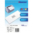 Unistat 38947 multipurpose label 12up 68x70mm box 100