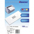 Unistat 38937 multipurpose label 14 per aheet 98x38mm box 100 sheets