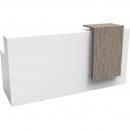 RAPIDLINE URBAN RECEPTION COUNTER 2200 X 800 X 1150MM BRILLIANT WHITE/DRIFTWOOD