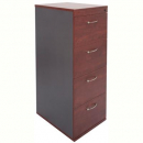RAPID MANAGER FILING CABINET 4 DRAWERS ASSEMBLED 1300 X 465 X 600MM APPLETREE/IRONSTONE