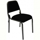 Rapidline stackable visitor chair interlocking black