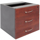 RAPID MANAGER FIXED PEDESTAL 3 DRAWERS 454 X 465 X 447MM APPLETREE/IRONSTONE