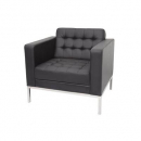 Venus sofa single seater pu black