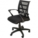 Vienna mesh chair medium back black