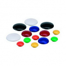 Vista magnetic buttons 20mm 10 pack yellow