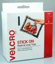 Velcro brand strip hook and loop fastener 20mm x 1.8m strip dispenser pack