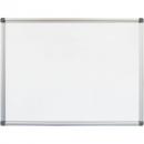 Rapidline wall mounted aluminium framed magnetic whiteboard 2400 x 1200mm