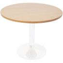 Rapidline round table white dics base 1200mm beech