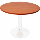 Rapidline round table white dics base 1200mm cherry