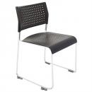 Rapidline wimbledon stacking visitor chair linking chrome frame black