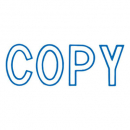 Xstamper 1006 message stamp blue 'COPY'