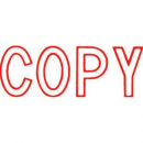 Xstamper 1006r message stamp red 'COPY'
