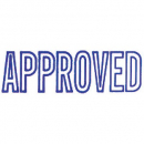 Xstamper 1008 message stamp blue 'APPROVED'