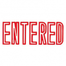 Xstamper 1021 message stamp red 'ENTERED'