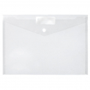 Marbig doculope wallet with button A4 clear