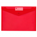 Marbig doculope wallet with button A4 red