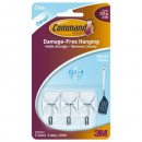 Command adhesive wire hooks small hooks with clear strips