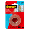 3M scotch super strength clear mounting tape 25.4mm x 1.51m