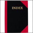 Notebook A4 100 page A-Z index red and black
