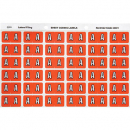 Avery 43301 label side tab 'A' colour code 25 x 38mm pink pack 180