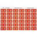 Avery 43304 label side tab 'D' colour code 25 x 38mm dark orange pack 180
