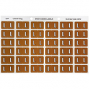 Avery 43312 label side tab 'L' colour code 25 x 38mm mustard pack 180