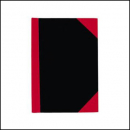 Notebook A6 100 leaf page A-Z index red and black