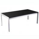 Rapid glass coffee table black glass chrome frame 1200 x 600mm