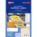 Avery 35932 L7162 laser fluro green address labels 16 per sheet 99.1 x 34mm pack 25 sheets