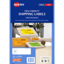 Avery 35972 L7162 laser fluro orange address labels 16 per sheet 99.1 x 34mm pack 25 sheets