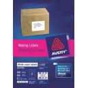 Avery 959006 L7165 laser white parcel labels 8 per sheet 99.1 x 67.7mm box 100 sheets