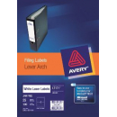 Avery 959035 L7171 laser white lever arch labels 4 per sheet 200 x 60mm pack 25 sheets
