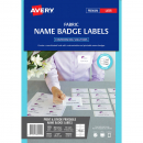 Avery 980040 L7427 laser fabric name badge labels 10 per sheet 88 x 52mm pack 15 sheets